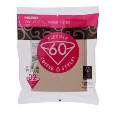 Paper filters Hario V60-02 100 pcs, unbleached (VCF-02-100M)