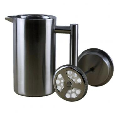 Stainless steel frenchpress 350ml Kaffia - Silver