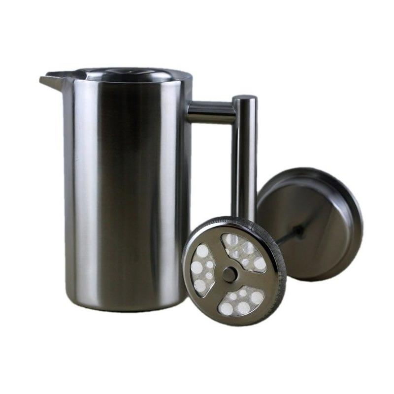 Stainless steel frenchpress 350ml Kaffia - Silver