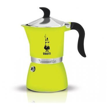 Bialetti Fiammetta 3 Green Moka Teapot