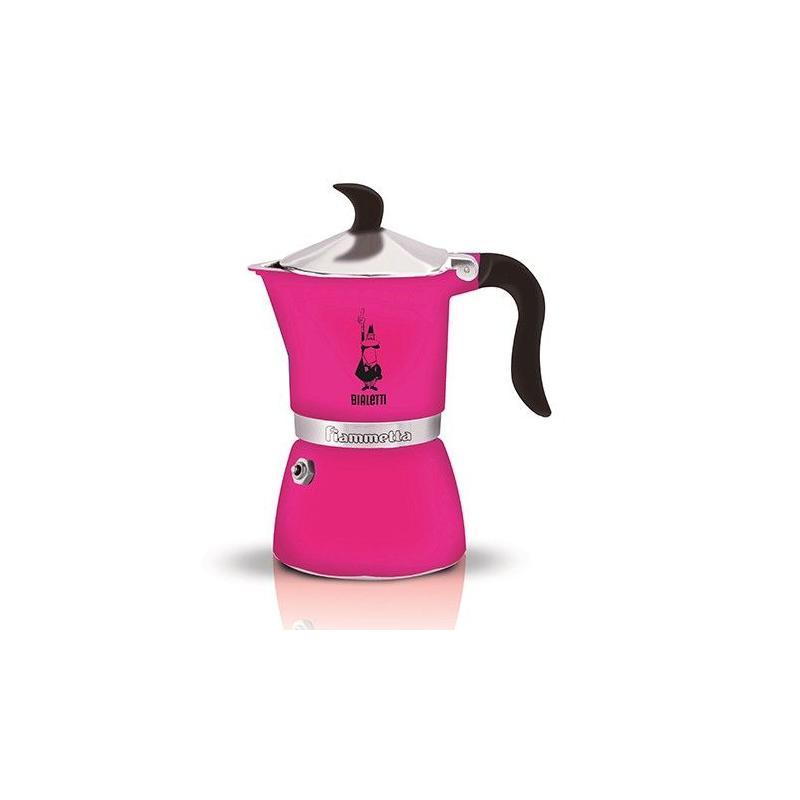 Bialetti Fiammetta 3 Pink Moka Teapot