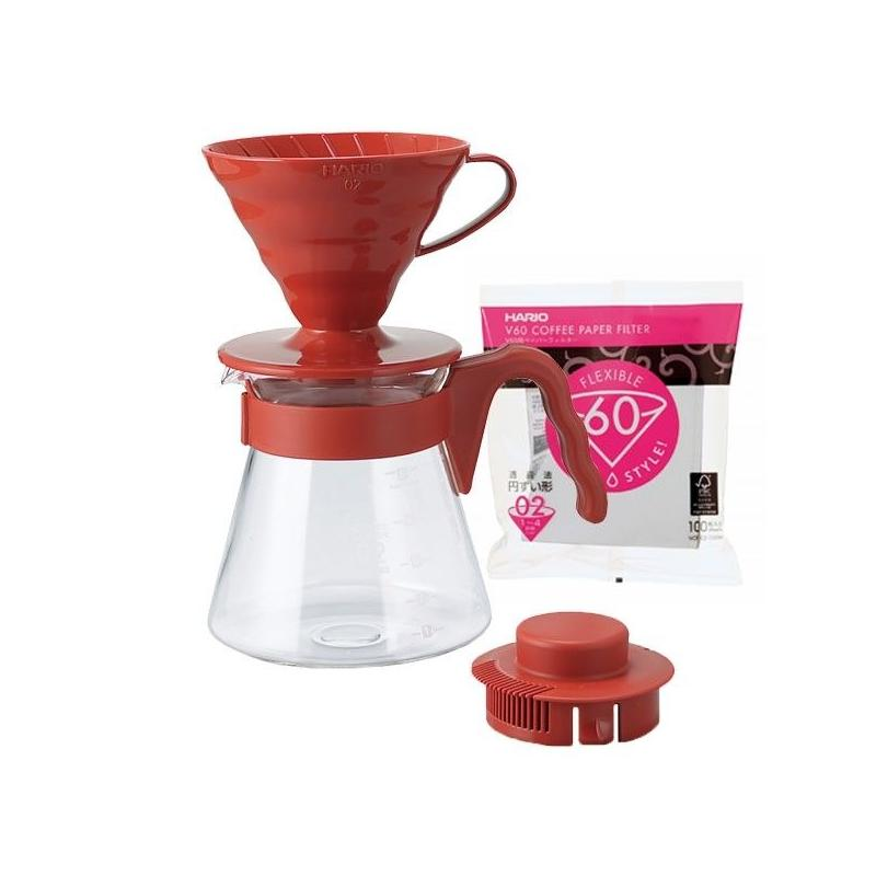 Hario V60 Pour over Kit (red)