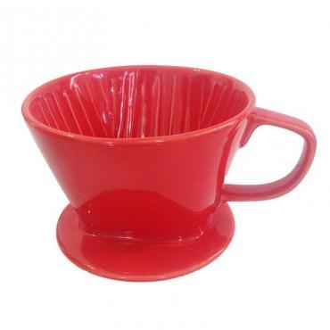 Kaffia ceramic drip 2-4 cups red