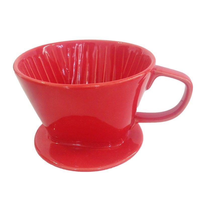 Kaffia kerámia dripper 2-4 csészére, piros