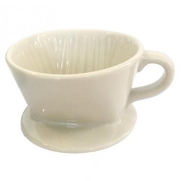Keramický drip Kaffia 1-2 šálky biely