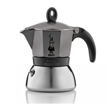 Bialetti Moka Induction 6 šálok šedá