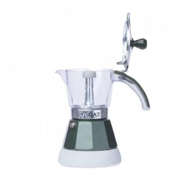 GAT Vintage 2-4 electric moka kettle green