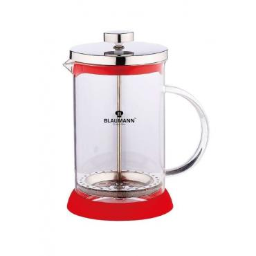 Frenchpress 800ml red stainless steel