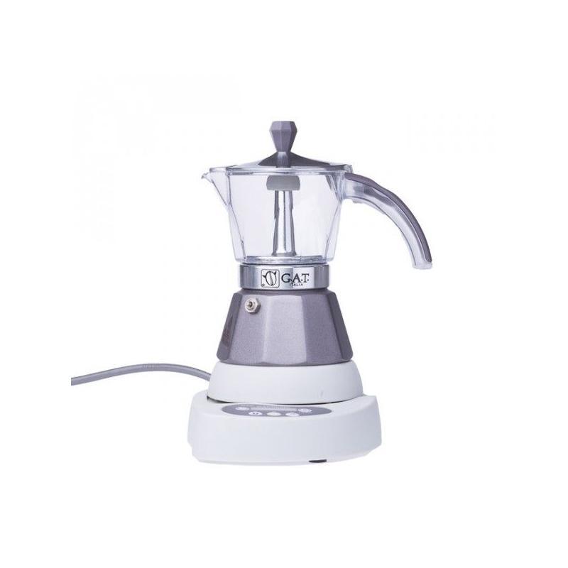 GAT Vintage Elektromos Mocha 2-4 csészés kotyogó kávéfőző, szürke