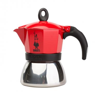 Bialetti Moka Induction 3 cups red