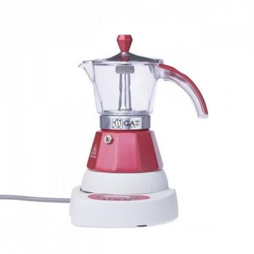 GAT Vintage 2-4 electric moka kettle red
