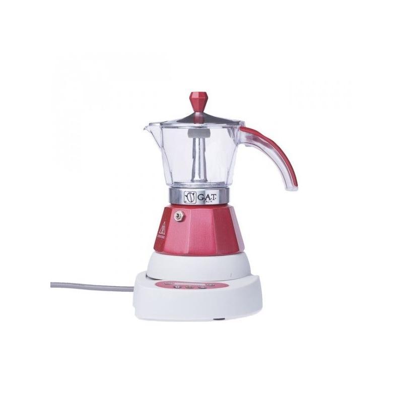 GAT Vintage Elektromos Mocha 2-4 csészés kotyogó kávéfőző, vörös