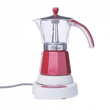 GAT Vintage 4-6 electric moka kettle red