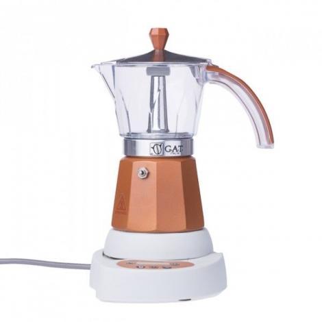 GAT Vintage Elektromos Mocha 4-6 csészés kotyogó kávéfőző, barna