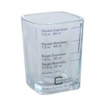 Esspresso üveg (mérőpohár)