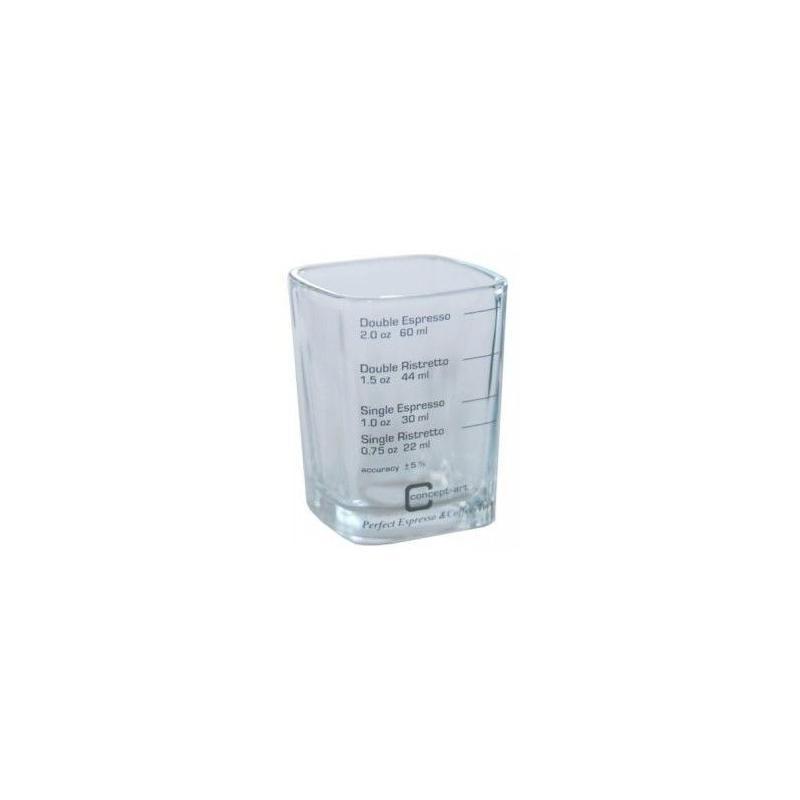 Esspresso üvegpohár (mérőpohár)