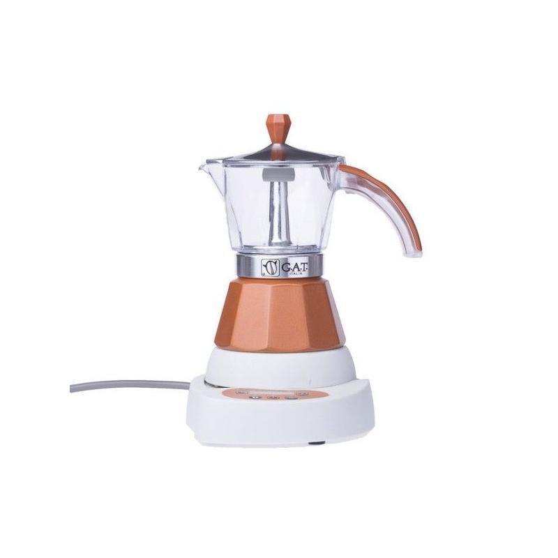 GAT Vintage Elektromos Mocha 2-4 csészés kotyogó kávéfőző, barna