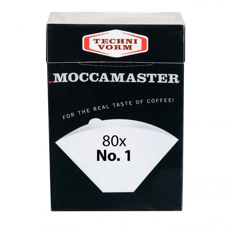 Papierové filtre Moccamaster veľ. 1 80ks
