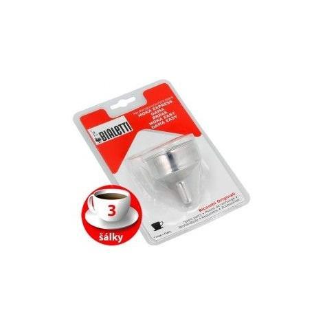 Bialetti funnel aluminum coffee machine 3 cups