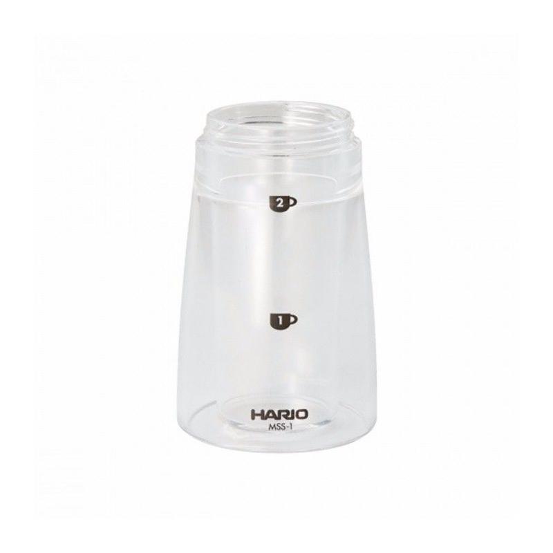 Alsó műanyag tartály a Hario Mini Mill Slim kávédarálóhoz