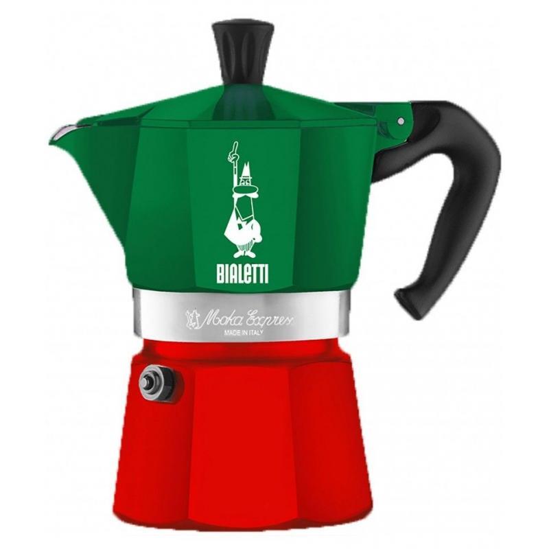 Bialetti Moka Express Italia 3 csészés kotyogó kávéfőző