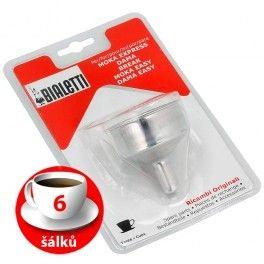 Trychtýř Bialetti hliníkový kávovar 6 šálků